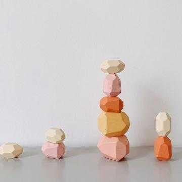 Balanční dřevěné kameny 10ks