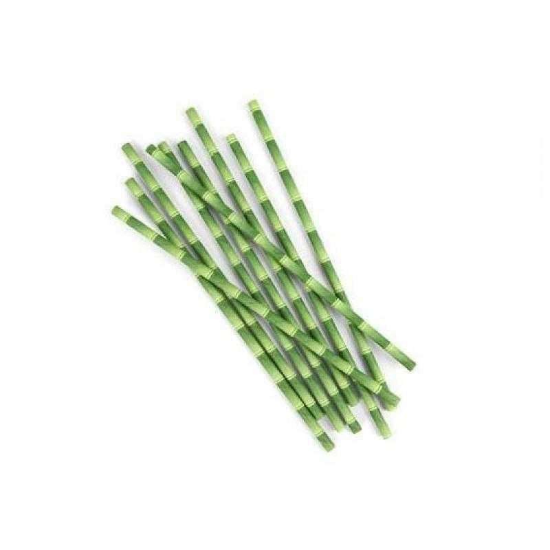Kikkerland Papírová brčka Bambus 144 ks