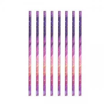 Kikkerland Papírová brčka Galaxie 144 ks