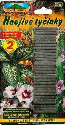 Univerzální hnojivé tyčinky na rostliny, balení 30 kusů tyčinek