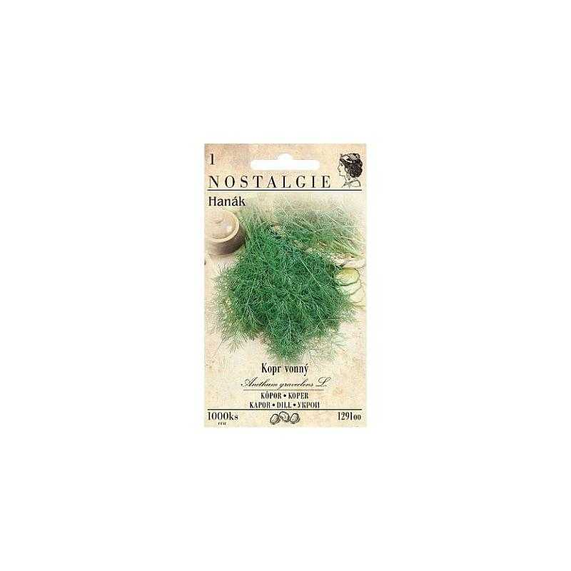 Kopr vonný Hanák, 1000 semen