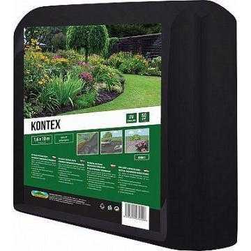 Kontex, mulčovací netkáná textilie, černá, 1,6 × 10 metrů
