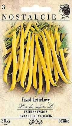 Keříčkové fazole žluté, 15 semen