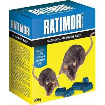 Ratimor Brodifacoum parafinové bloky nástraha na hlodavce, 300 g