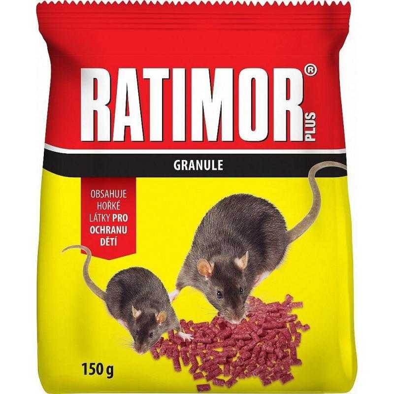 Ratimor Plus Bromadiolon nástraha na hlodavce, sáček, 150 g