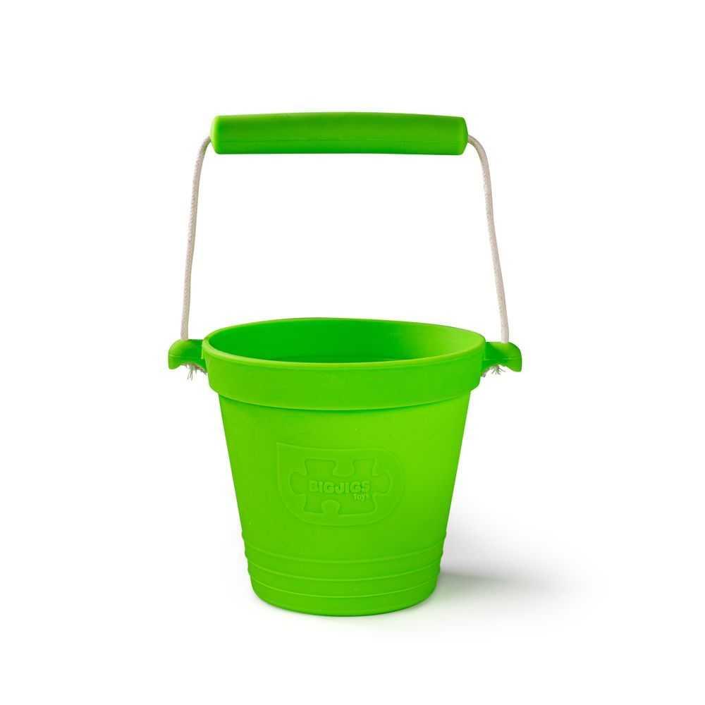 Bigjigs Toys Plážový kyblíček zelený