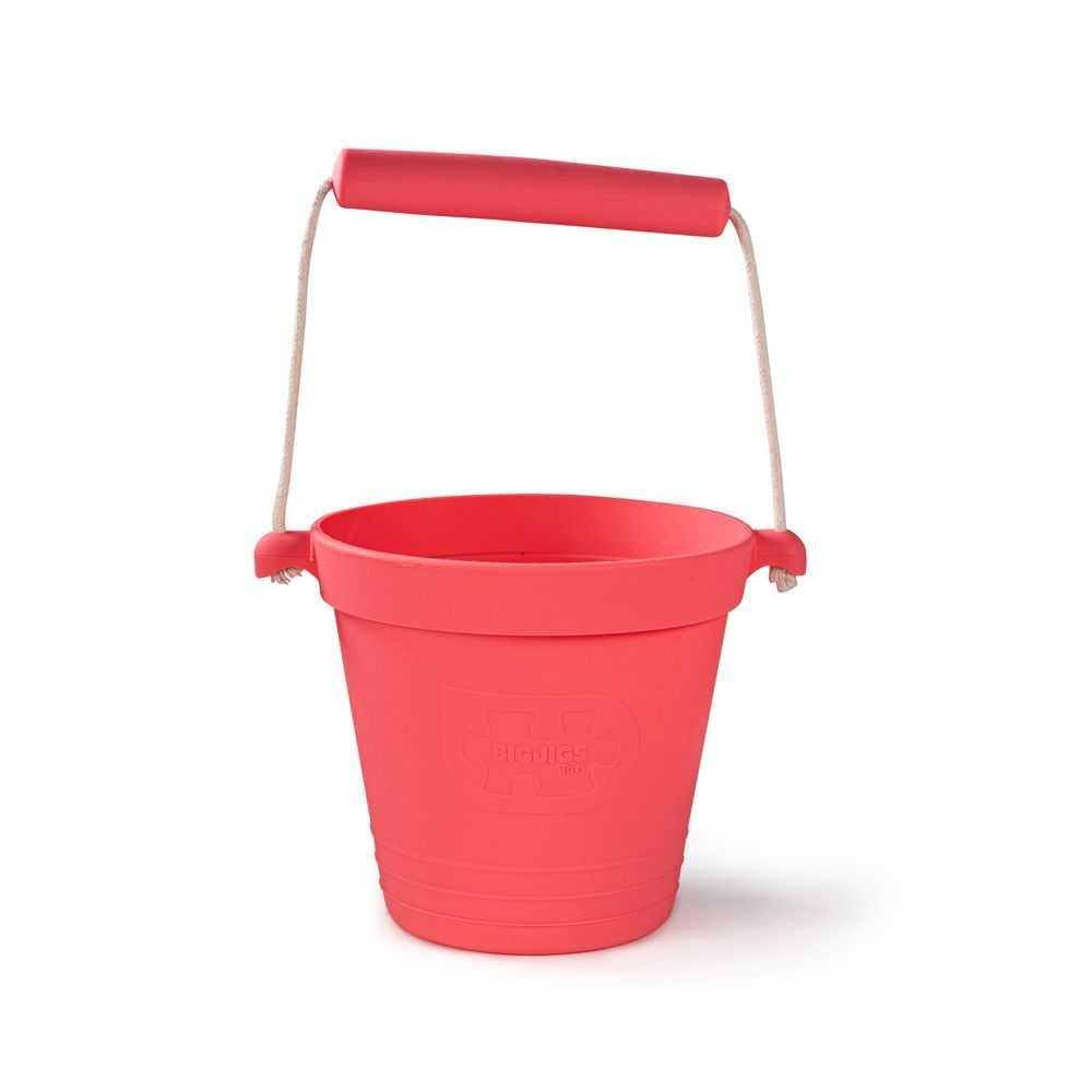 Bigjigs Toys Plážový kyblíček růžový