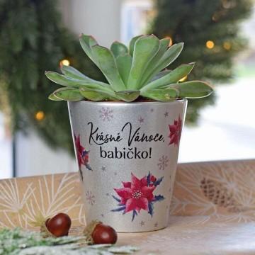 HOUSEDECOR Vánoční květináč pro babičku