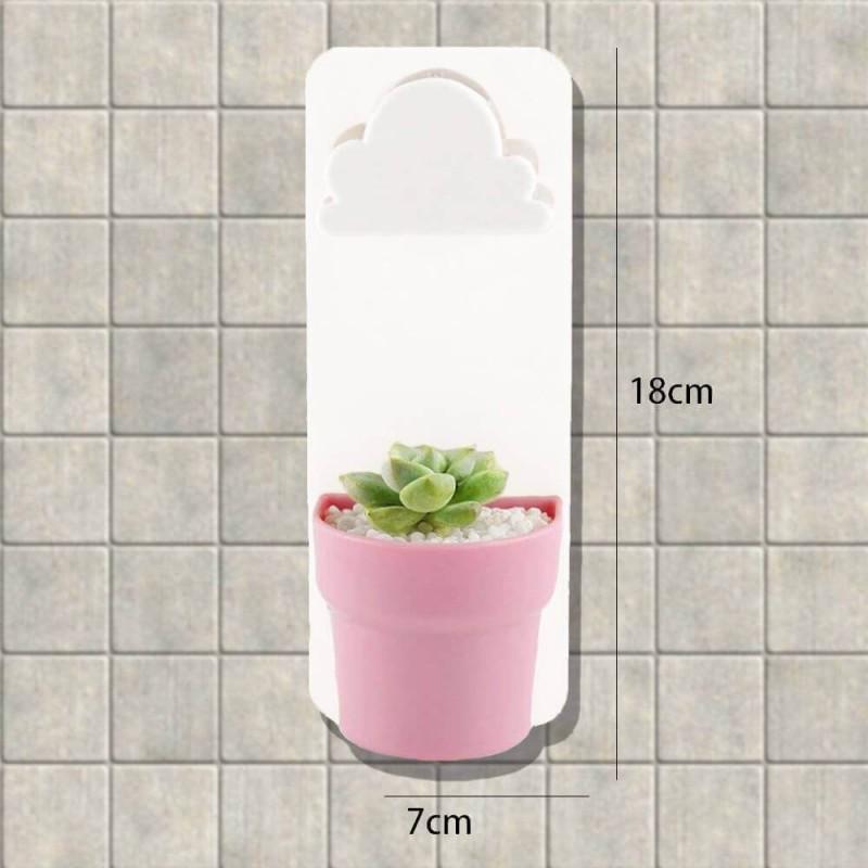 Květináč s mráčkem - růžový