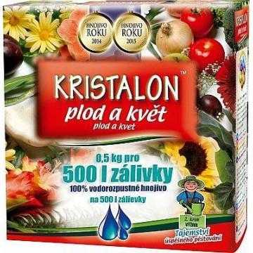 Agro Kristalon Plod a květ, hnojivo na balkonové a okrasné rostliny a dřeviny, 500 g